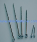 Nail screws/Screw Nails Series Pozi drive ovel countersunk head For Nylon Hammer Anchor